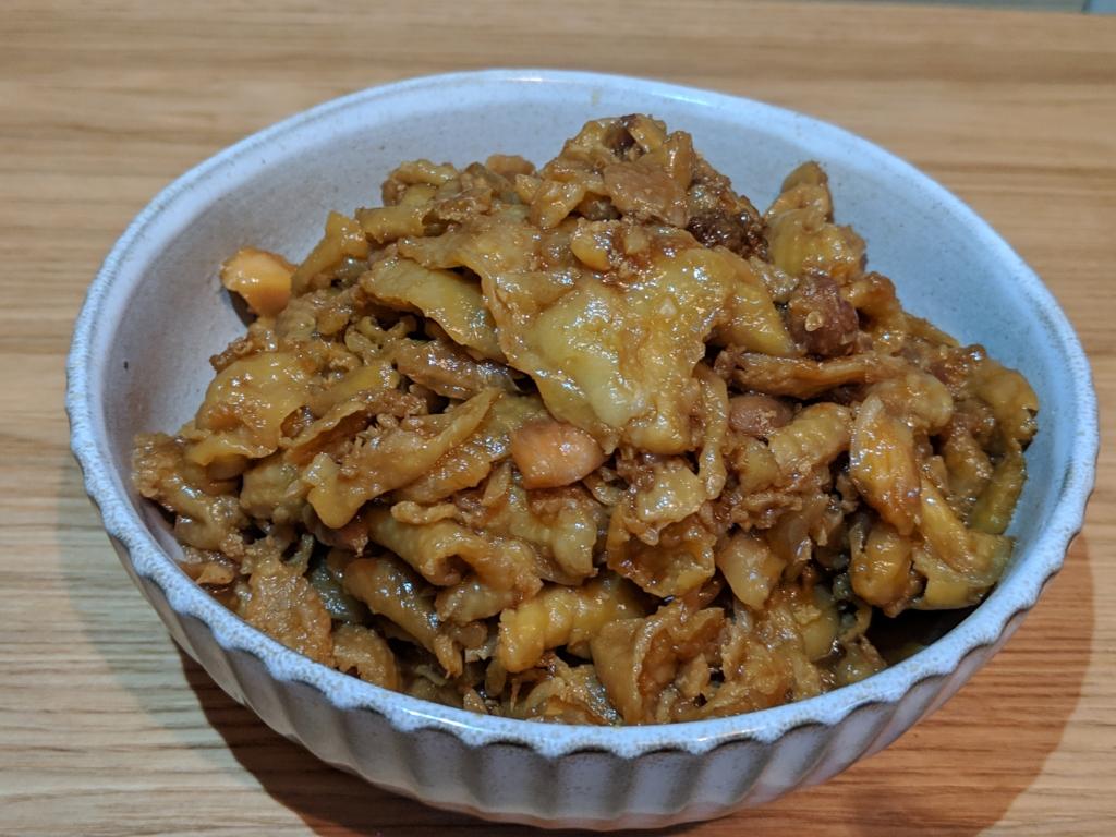 鶏皮の甘辛煮